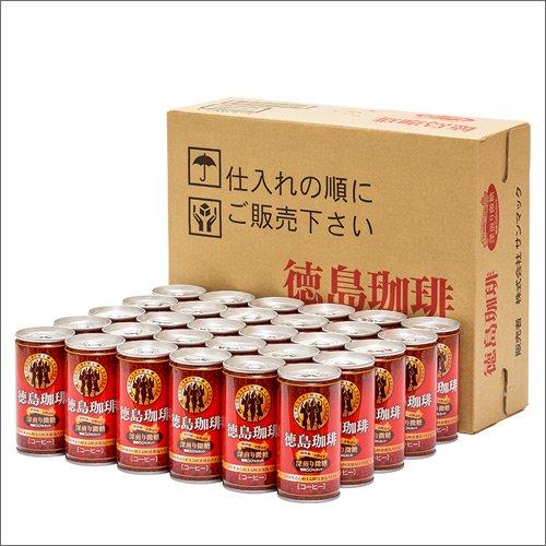徳島珈琲 深煎り微糖190gx30本 ダンボール入り/缶コーヒー/サンマック/父の日/お中元