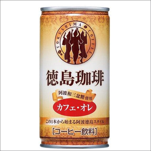 徳島珈琲 カフェオレ 190gx30本 ダンボール入り/缶コーヒー/サンマック/父の日/お中元詳細画像