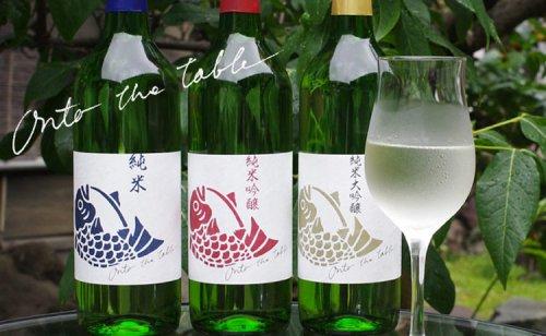 ナルトタイ Onto the tableギフト3本組 オントゥ・ザ・テーブル(徳島の地酒 日本酒 鳴門鯛の本家松浦酒造)詳細画像