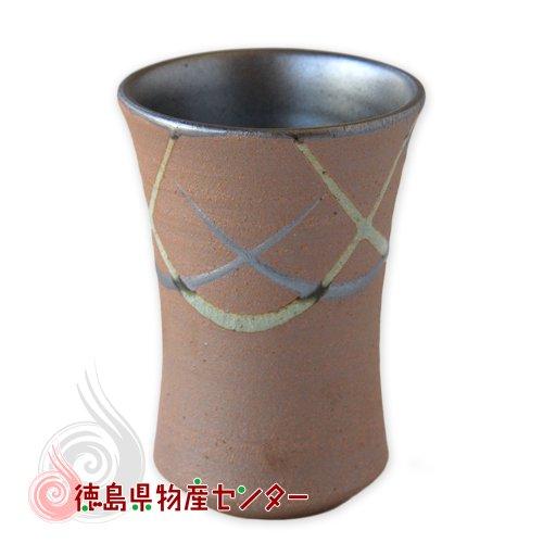 大谷焼 陶器 ジョッキ(焼〆 流し)和食器/コップ/カップ/湯飲み/日本製/徳島県伝統民工芸品/贈答/ギフト