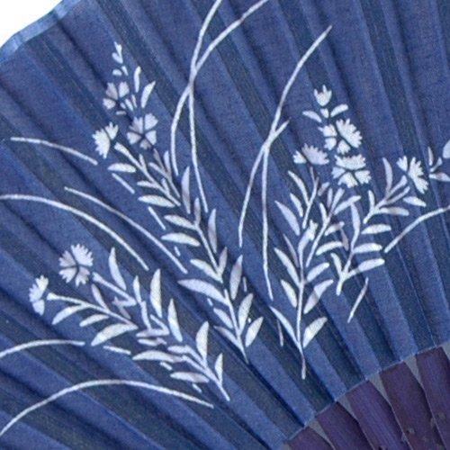 藍染扇子(せんす)撫子 本場阿波徳島の伝統工芸品 天然の藍染製品!父の日/母の日/敬老の日詳細画像