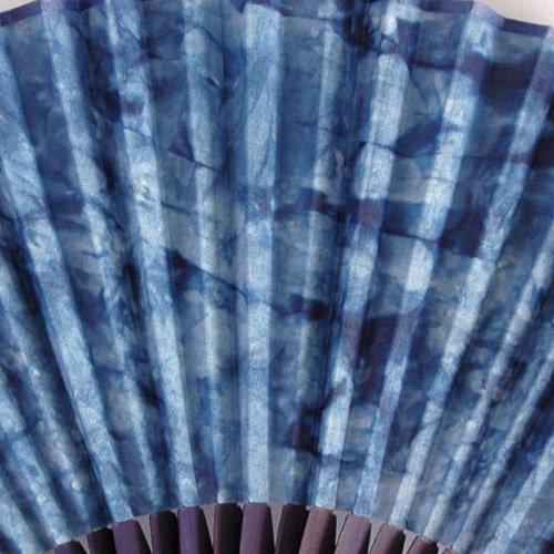 藍染扇子(せんす)むらくも染め 本場阿波徳島の伝統工芸品 天然の藍染製品!父の日/母の日/敬老の日詳細画像