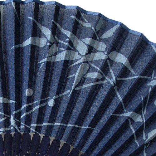 藍染扇子(せんす)小竹  本場阿波徳島の伝統工芸品 天然の藍染製品!父の日/母の日/敬老の日詳細画像