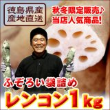 【激安】徳島県産高級レンコン1kg袋詰め!訳ありで半額♪同梱OK!【11月下旬〜1月下旬頃の冬季限定販売】