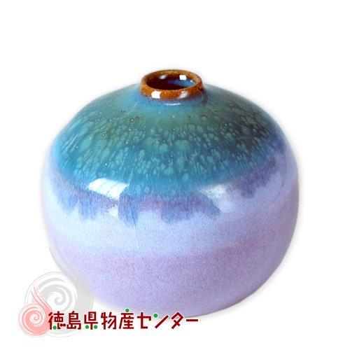 大谷焼 一輪挿し 小さな花瓶(短 オリベ)森陶器/和陶器 日本製 徳島県伝統民工芸品 贈答 ギフト