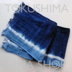 【送料無料】藍染ストールA(タオルマフラー)男女兼用 阿波藍染め製品!【母の日】【敬老の日】【父の日】詳細画像