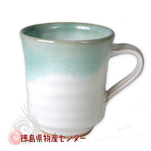 大谷焼 陶器 マグカップ(青流し 長型)和食器/コップ/ティーカップ/日本製/徳島県伝統民工芸品/贈答/ギフト
