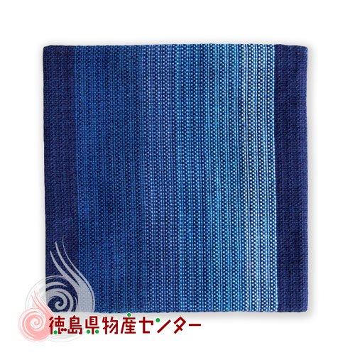 阿波しじら織 コースター藍縞No1 長尾織布