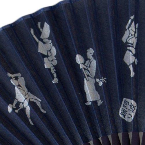 藍染扇子(せんす)阿波踊り(タイコ)本場阿波徳島の伝統工芸品 天然の藍染製品!父の日/母の日/敬老の日詳細画像