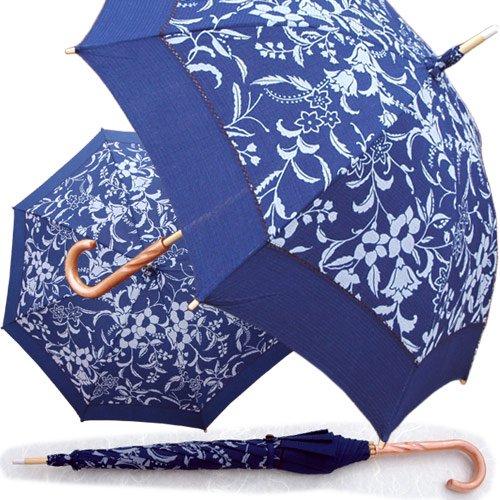 藍染め日傘 鈴蘭(すずらん) 阿波天然藍染めの伝統製品!【母の日】【敬老の日】詳細画像