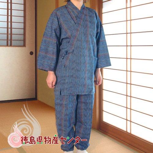 【送料無料】阿波しじら織の作務衣62[女性用和服]【母の日】【敬老の日】
