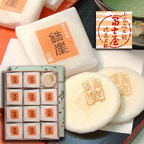 ふやきせんべい鉄崖 ニ枚包×24入 冨士屋 徳島の銘菓