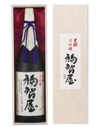 香住鶴 生酛(生もと)大吟醸 福智屋 1800ml 【高級木箱入り】