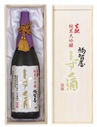 香住鶴 生酛(生もと)純米大吟醸 福智屋 しずく酒 1800ml 【高級木箱入り】