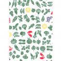 手ぬぐい 野菜と果物