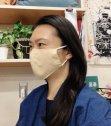 江戸てんオリジナル 日本手ぬぐいマスク(ファンデーションが目立たない内側ベージュ) ・・ポスト投函