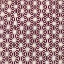 [梨園染]手ぬぐい 注染 綿100% 日本製 江戸てん限定色 麻の葉(赤紫)
