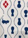 [江戸てん]手ぬぐい 注染 梨園染 綿100% 日本製 オリジナル瓢箪猫つなぎ