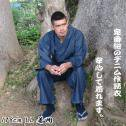 デニム作務衣(紺)