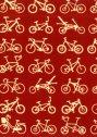 【日本製】 手ぬぐい 自転車(赤)