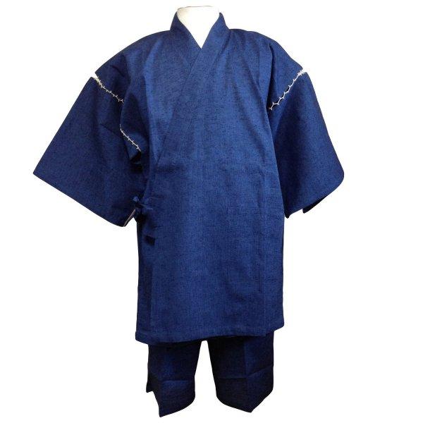 日本製久留米織り甚平 生地がしっかりしています。ワンランク上の甚平です