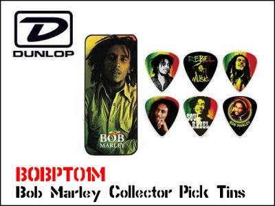<img class='new_mark_img1' src='https://img.shop-pro.jp/img/new/icons20.gif' style='border:none;display:inline;margin:0px;padding:0px;width:auto;' />Jim Dunlop BOB ボブマーリー Marley Collector Pick Tins