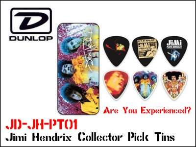 <img class='new_mark_img1' src='https://img.shop-pro.jp/img/new/icons20.gif' style='border:none;display:inline;margin:0px;padding:0px;width:auto;' />Dunlop JH-PT24 Jimi Hendrix Collector Pick Tins