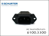 SCHURTER / IEC 6100.3300 ACインレット