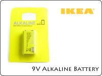 9V アルカリ電池 IKEA製 006P