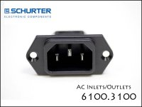 SCHURTER / IEC 6100.3100 ACインレット