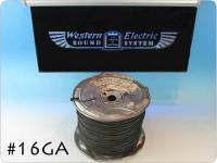 Western Electric 16GA 黒 シングル 切り売り 1m〜