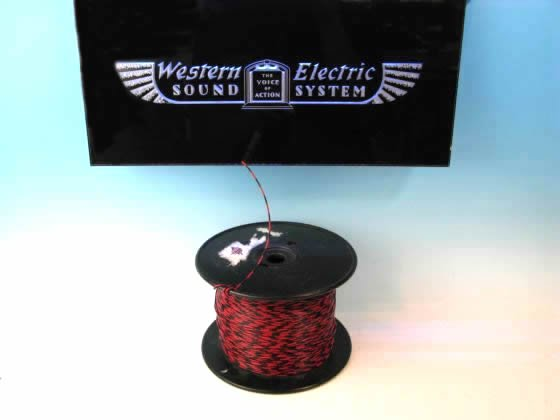 Western Electric 26GA 赤/黒 シングル 切り売り 1m〜
