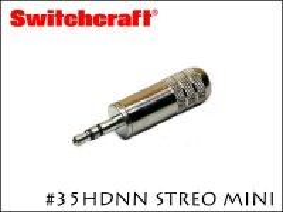 SWITCHCRAFT 35HDNN スイッチクラフト 3.5mm ミニステレオ プラグ