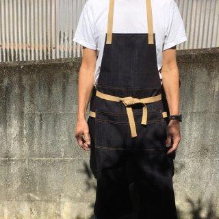 エプロン キャンプ【デニム】ロングエプロン(発送まで約2週間)