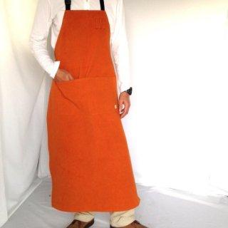 帆布胸当てロングエプロン全5色【キャメル・茶・オリーブ・黒・きなり】男のエプロン