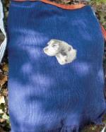 木の精前掛けエプロン 【綿】 犬刺繍入