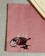 ブックカバー刺繍入 【和紙裏打ち】 クッキング