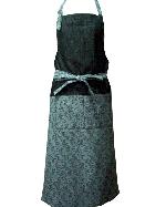 ジャガード織り胸当てエプロン