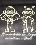 帆前掛け【ヒロくん・刺繍】天使と悪魔