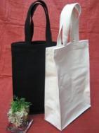 ビジネストートバッグ 【帆布】 白(生成り)or黒 A4サイズ
