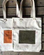 【帆布】トートバッグ(ツートンカラー)【全5色】