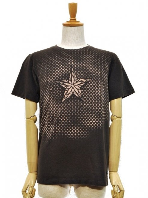 "【MEN'S】""SHINING STAR""REGULAR S/S TEEColor:OLD BLACKIE   Size:S/L- A HOPE HEMP -"
