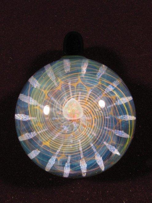 """LIGHT MATRIX"" PENDANT #33H47mm x W36mm- TIEMEYER GLASS -"