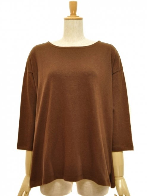 【WOMEN'S】SUNNY WIDE TEEH/OC JERSEYColor:COFFEE BROWN    Size:F (0)- GOHEMP -