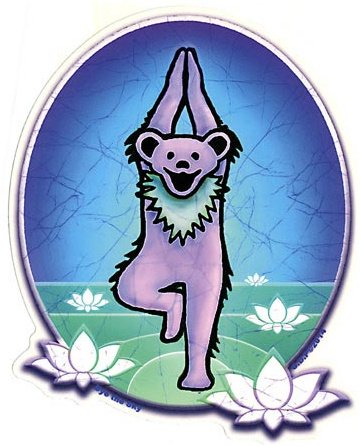 YOGA BEAR ステッカーSize:縦15cm x 横12cm- USA STICKER -