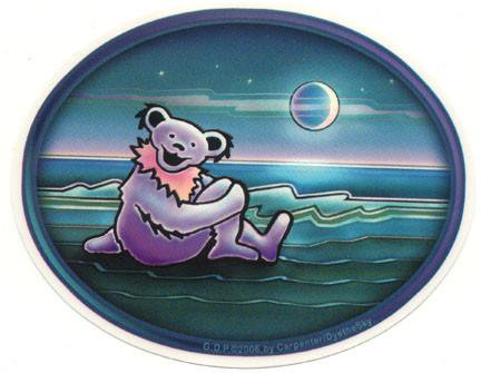 WATERSIDE BEAR STICKER ステッカーColor:ONE    Size:縦12cm×横15cm- USA STICKER -