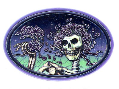 GRATEFUL DEAD BATIK BERTHA WINDOW STICKER ステッカーColor:ONE    Size:縦10cm×横16cm- USA STICKER -