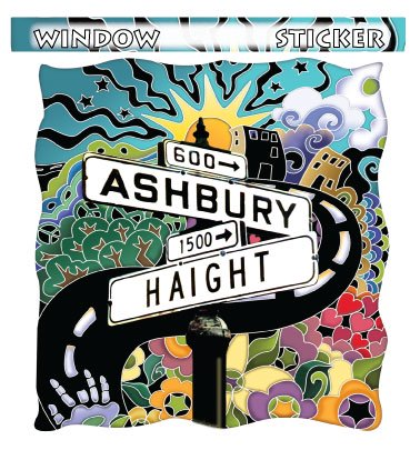 HAIGHT ASHBURY STICKER ウインドステッカーColor:ONE    Size:縦12cm×横11.5cm- USA STICKER -