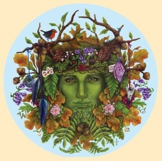 """SEASONS GREEN MAN"" STICKERステッカーColor:ONE    Size:直径11.5cm- USA STICKER -"