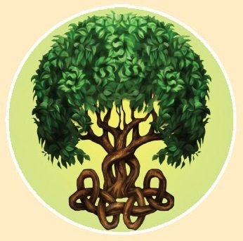 """CELTIC TREE"" STICKERステッカーColor:ONE    Size:直径11.5cm- USA STICKER -"